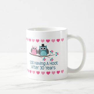 30th Anniversary Owl Couple Mug