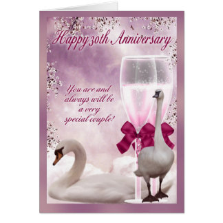 30th Anniversary - Pearl Anniversary Card