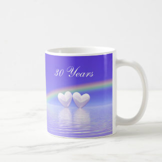 30th Anniversary Pearl Hearts Coffee Mug