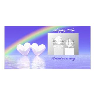 30th Anniversary Pearl Hearts Photo Card Template
