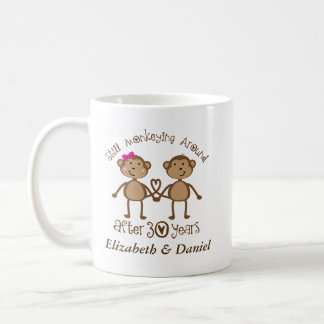30th Anniversary Personalized His and Hers Mugs