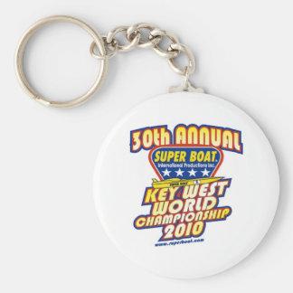 30th Annual Key West World Championship Basic Round Button Keychain