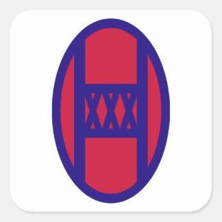 30th Armored Brigade Square Sticker