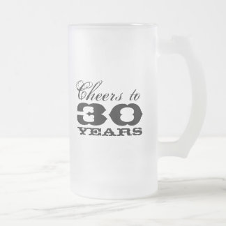 30th Birthday Beer Mug for men | Cheers to thirty