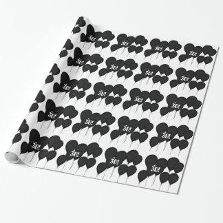 30th birthday, black balloons Gift Paper