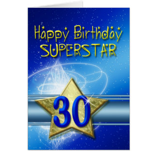30th Birthday card for Superstar