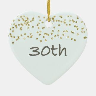 30th Birthday Confetti Ceramic Ornament