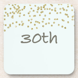 30th Birthday Confetti Coaster