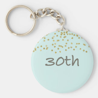 30th Birthday Confetti Keychain