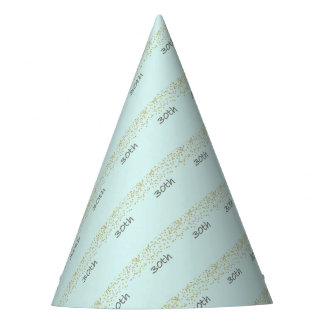 30th Birthday Confetti Party Hat