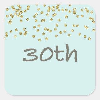 30th Birthday Confetti Square Sticker