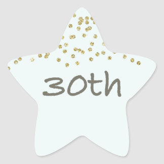 30th Birthday Confetti Star Sticker
