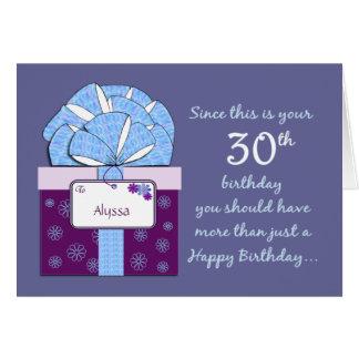 30th Birthday Customizable Card