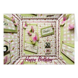 30th Birthday Daughter Card