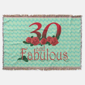30th birthday diva red rose 30 flower blanket