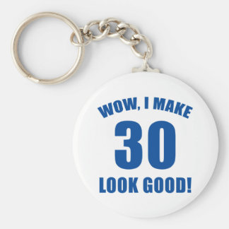 30th Birthday Gag Gift (b) Basic Round Button Keychain