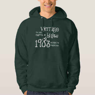 30th Birthday Gift 1983 Vintage Brew Name For Him Hoodie