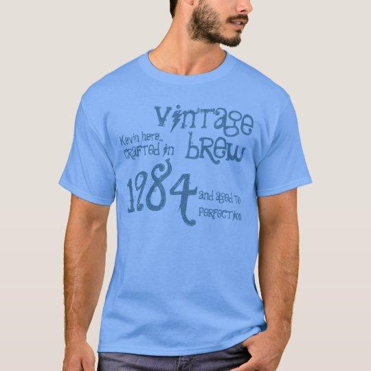 30th Birthday Gift 1984 Vintage Brew Blue Denim T-Shirt
