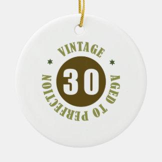 30th Birthday Gift Ideas Ceramic Ornament