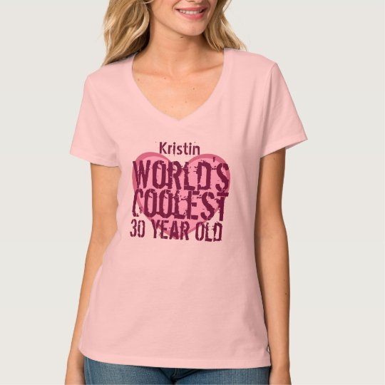 30th Birthday Gift World's Coolest 30 Year Old V24 T-Shirt