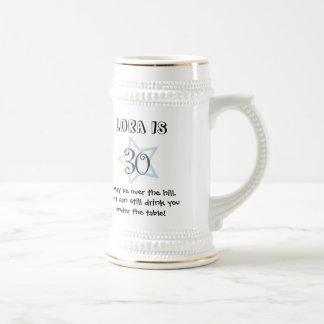 30th Birthday Mug- Customized Beer Stein
