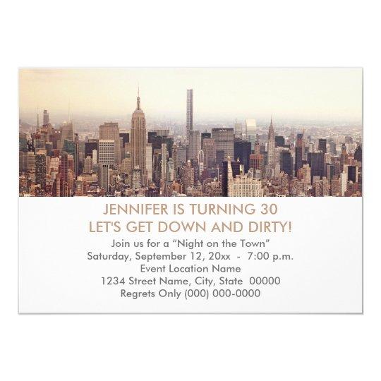 30th Birthday New York City Invitations
