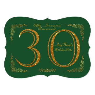 30th,Birthday party 30th,great Gatsby,GREEN & gold Card