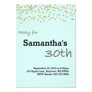 30th Birthday Personalized in Pastel Colors Card
