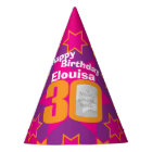 30th birthday personalized photo star name hat