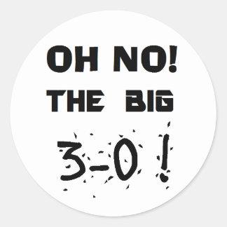 """30th Birthday"" Stickers"