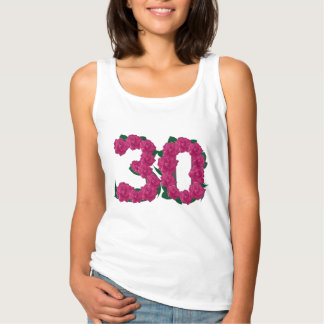 30th birthday wedding anniversary floral T-shirt