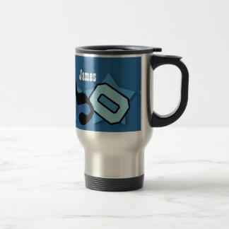 30th Birthday with Stars Custom Name V07 BLUE Travel Mug