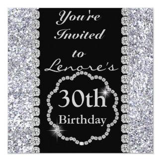 30th BLING Birthday Party Invitation