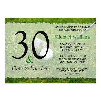 30th Golf Birthday Party Card