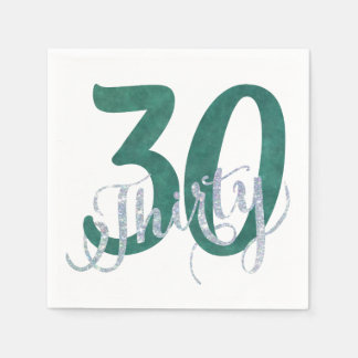 30th Green | Custom Birthday Anniversary Party | Paper Napkin