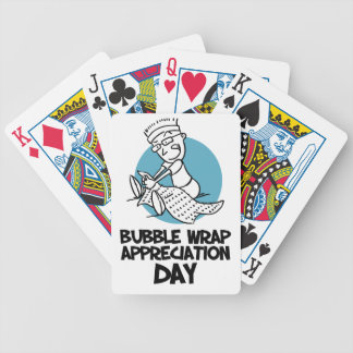 30th January - Bubble Wrap Appreciation Day Bicycle Playing Cards
