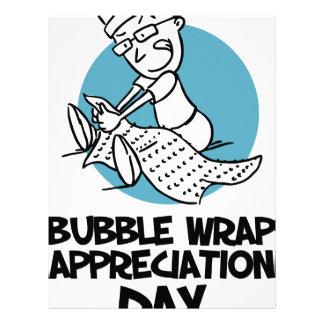 30th January - Bubble Wrap Appreciation Day Letterhead