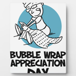 30th January - Bubble Wrap Appreciation Day Plaque