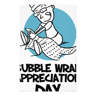30th January - Bubble Wrap Appreciation Day Stationery