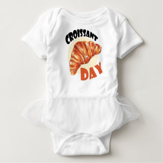 30th January - Croissant Day Baby Bodysuit