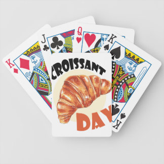 30th January - Croissant Day Bicycle Playing Cards