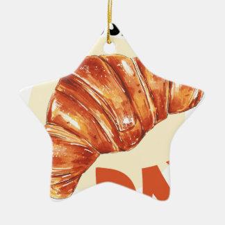 30th January - Croissant Day Ceramic Ornament