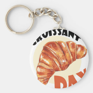 30th January - Croissant Day Keychain