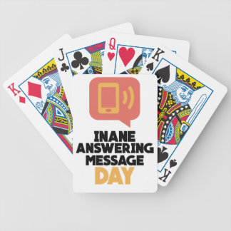 30th January - Inane Answering Message Day Bicycle Playing Cards