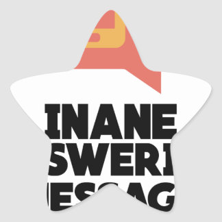 30th January - Inane Answering Message Day Star Sticker