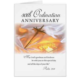 30th Ordination Anniversary, Cross Candle Cards