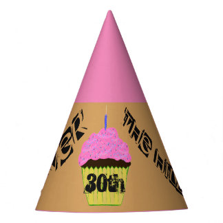 30th Over the Hill Pink Cupcake Balloons Hats