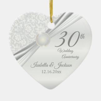 30th Pearl  Anniversary Ceramic Ornament