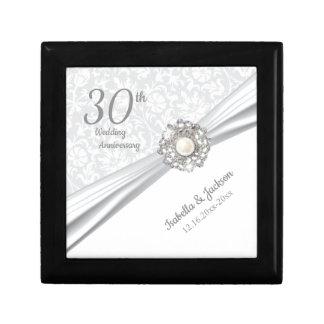 30th Pearl Jewel Wedding Anniversary Design Gift Box