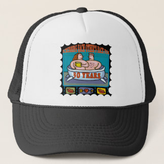30th Wedding Anniversary Gifts Trucker Hat